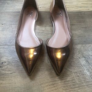 Journey Collection JC Metallic Rose Gold Flats